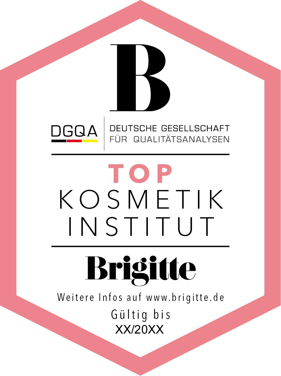 dgqa brigitte top kosmetikinstitut label