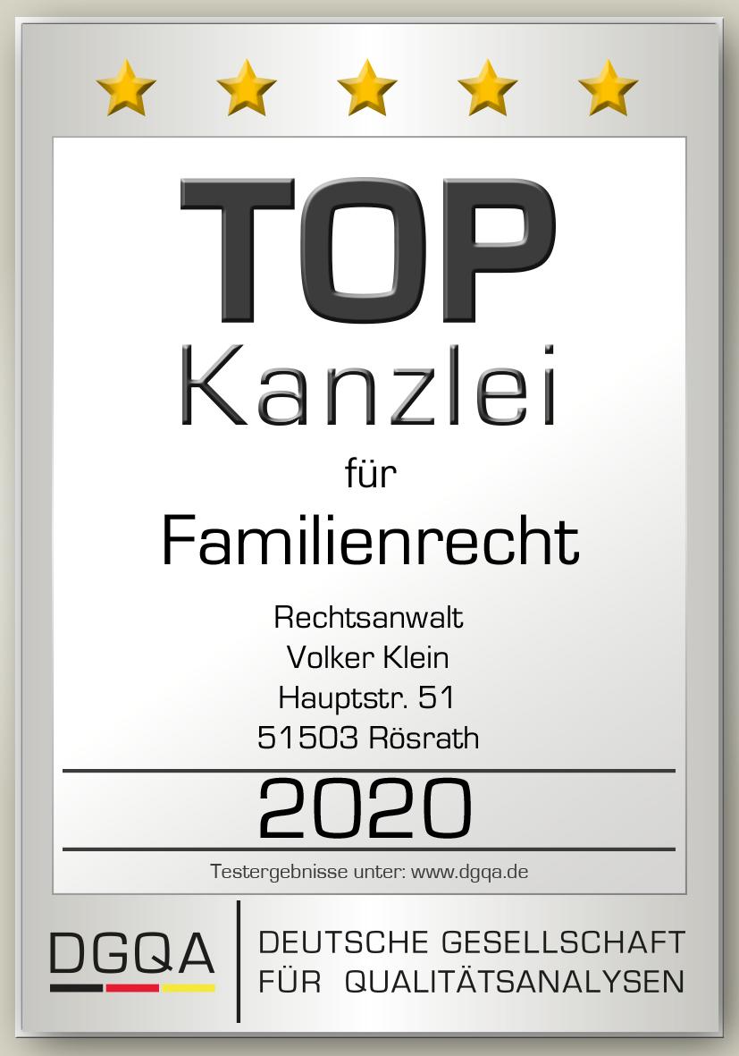 Siegel Familienrecht 2020 DGQA