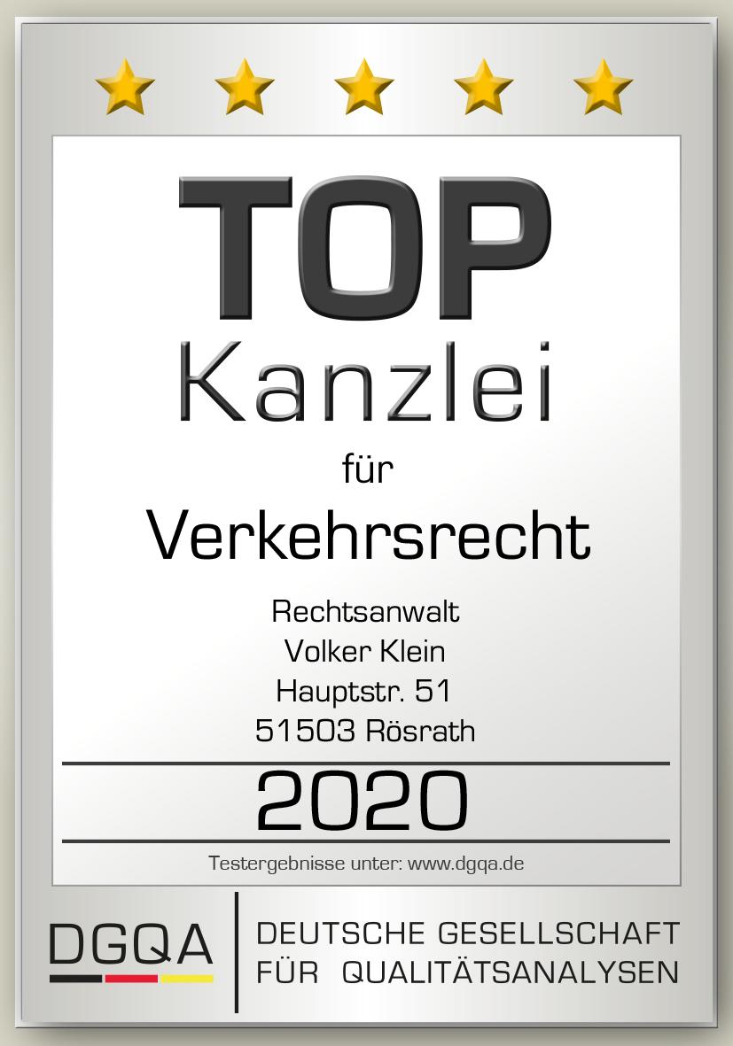 Siegel Verkehrsrecht 2020 DGQA